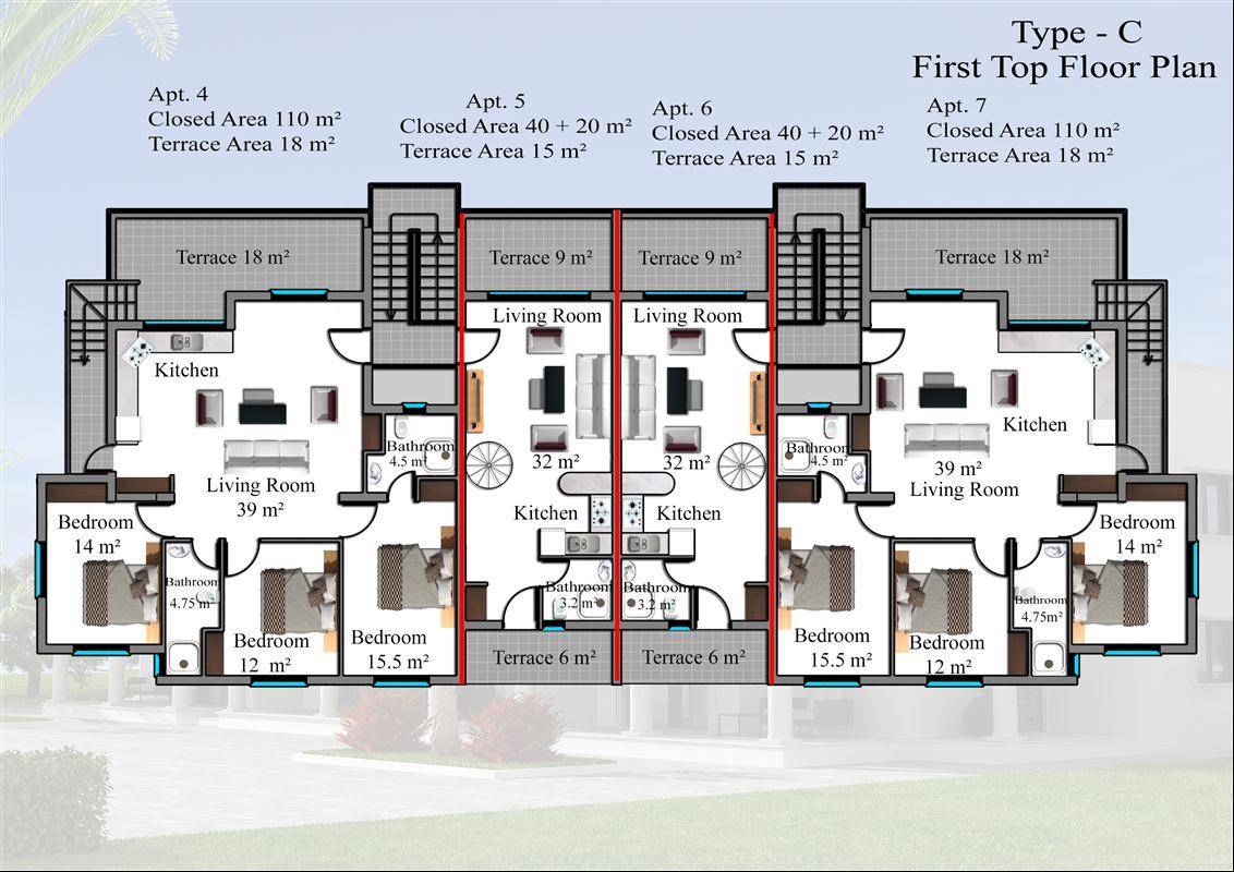 1 sovrum duplex