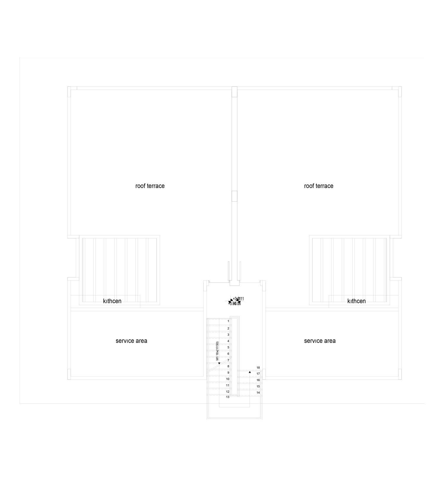 Block 10 - lgh nr: 3 & 4 - takterrasser